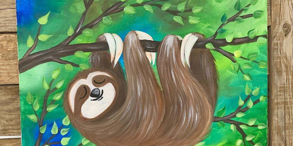 Sleepy Sloth Canvas Painting Class