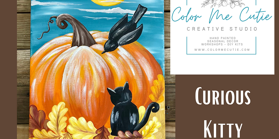 Curious Kitty Canvas Painting Class