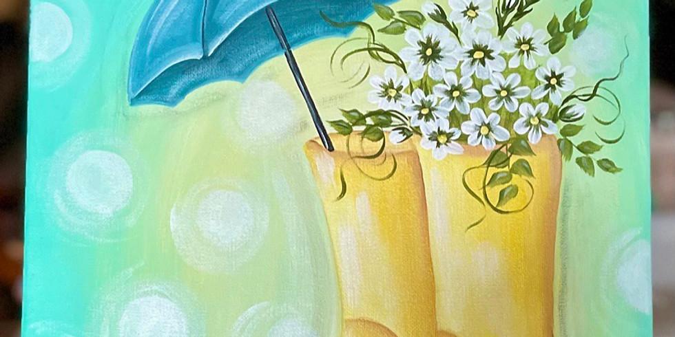 """3/5 @ 6:00pm Sunshiny Days"""" paint class"""
