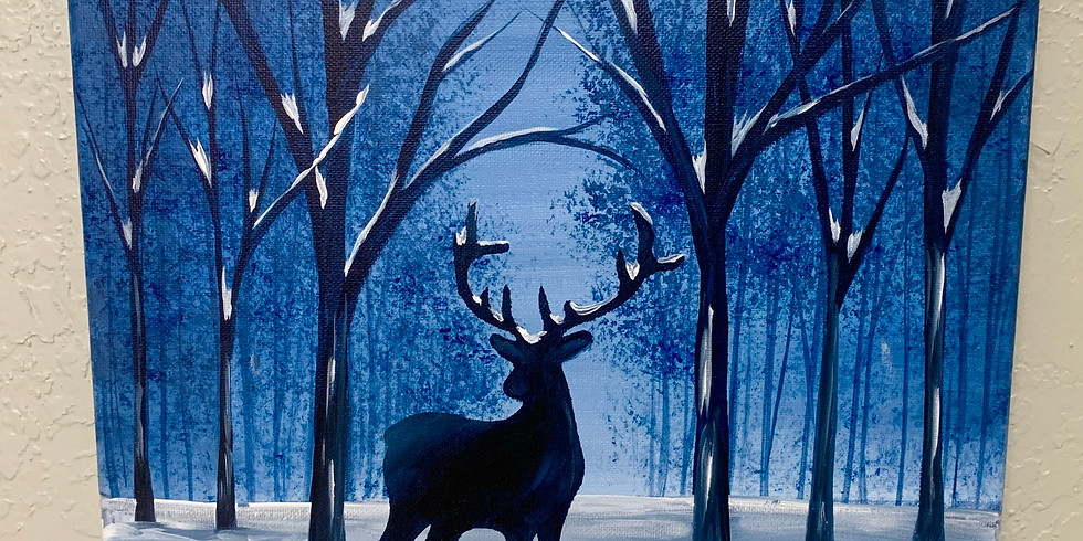 Deer In The Woods Canvas Painting Class