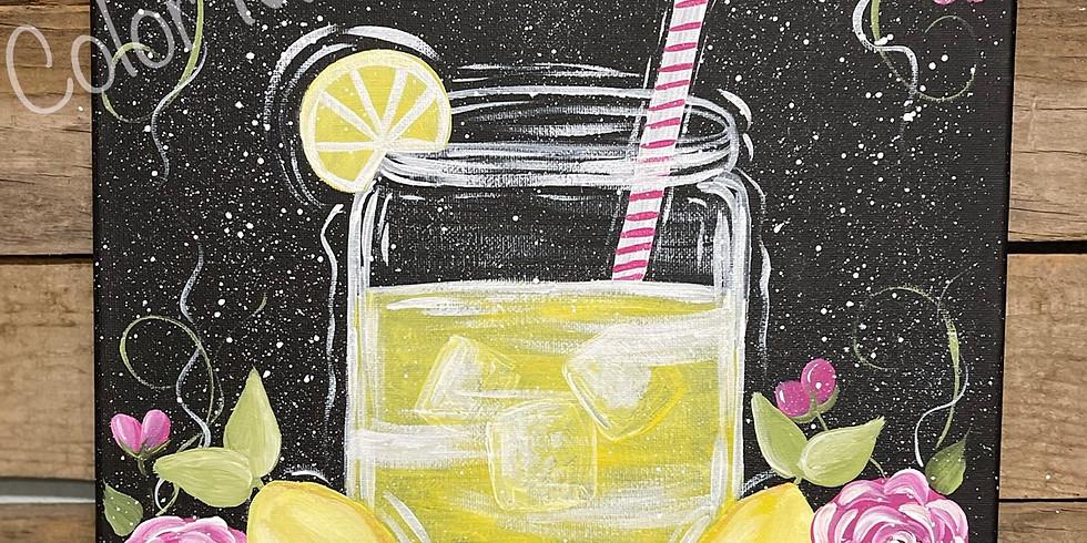 3/10 @ 6:00pm Sweet Lemonade Canvas Painting Class