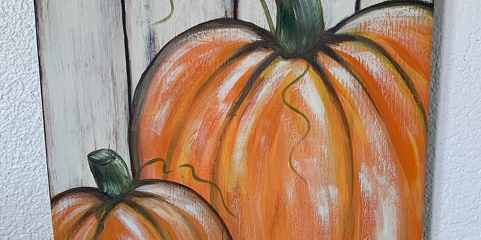 First Lutheran Church FUNDRAISER- CANVAS Pumpkins $35