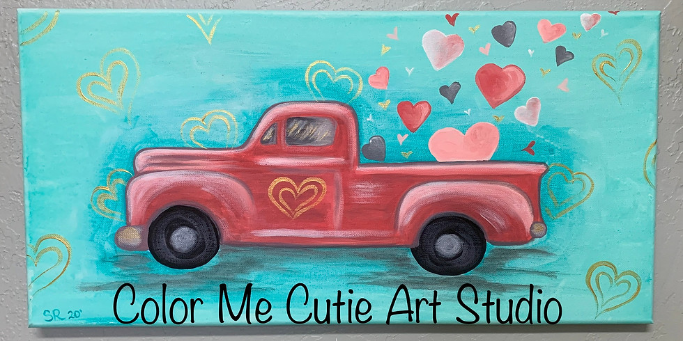 Hauling Love Canvas Painting Class