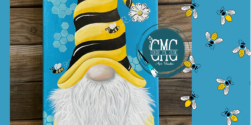 *ONLINE* Bee Gnome Paint Party