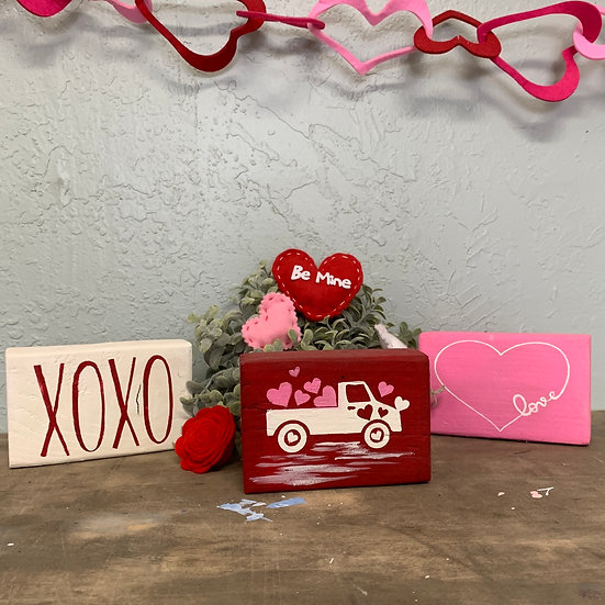 Valentine's blocks