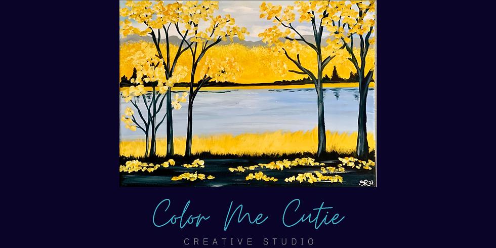 Autumn Light Canvas Painting Class #1----First Lutheran Church Fundraiser
