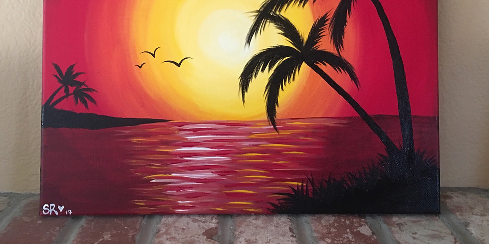 Sunsets on the Beach Painting Class (1)