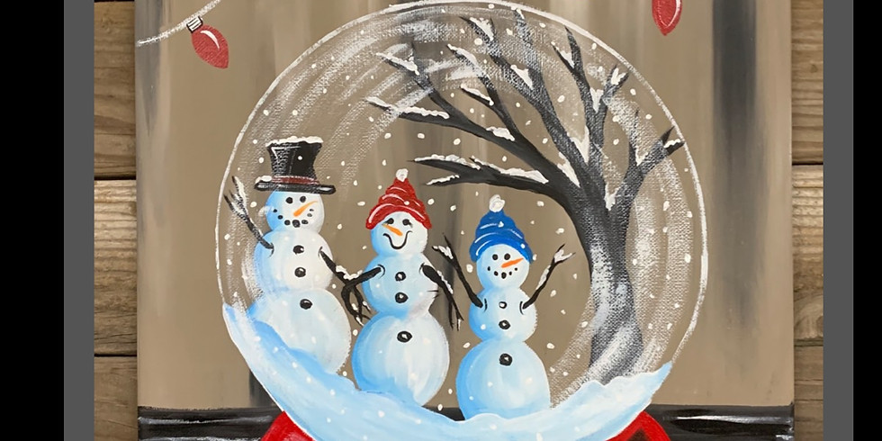 Snow Globe Painting On Canvas at 7 MILE HOUSE!