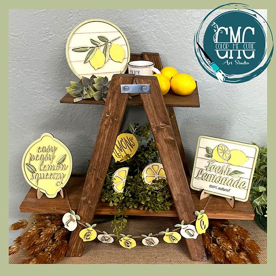 Lemon Tier Tray Set