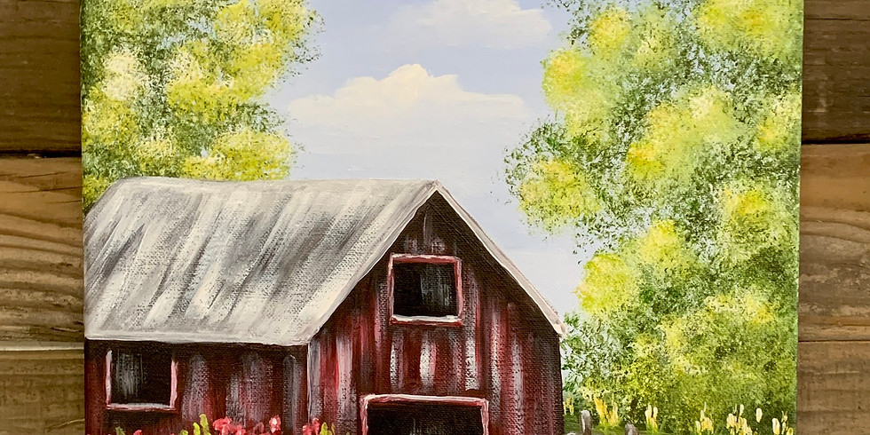7 MILE HOUSE--The Ol' Red Barn Canvas Painting Class
