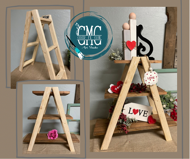 Collapsible Ladder Style - 3 Tier Tray