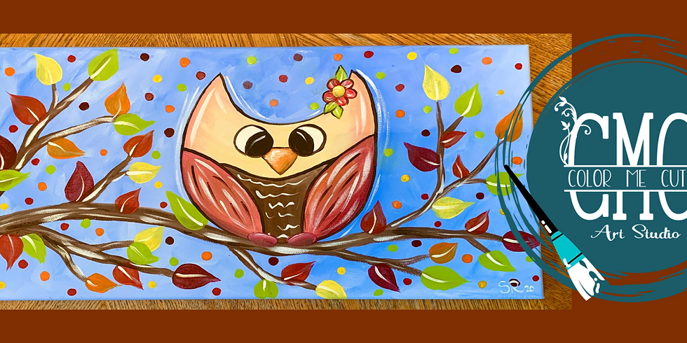 Fall Owl Paint Party (ONLINE ANYTIME)