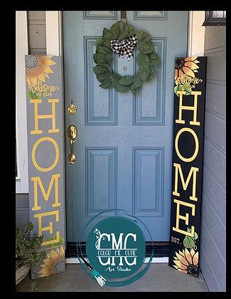Sunflower porch leaner sign