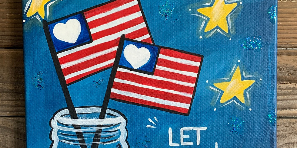 LET FREEDOM RING Painting Class $35