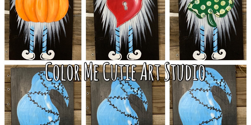 Interchangeable Gnome Wood Sign Class
