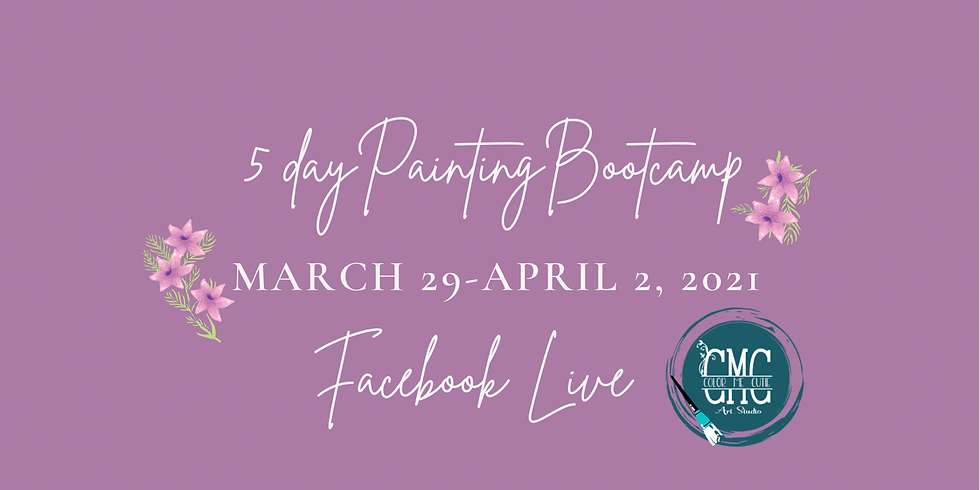 Paint your way in 5 days-Bootcamp-ONLINE ONLY