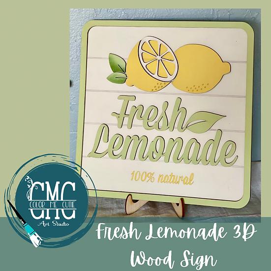 Fresh Lemonade Laser Cut wood sign