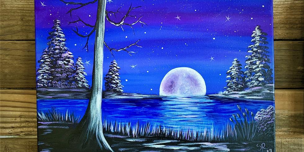 New Class Posting!  Night Sky Lights Painting Class $35