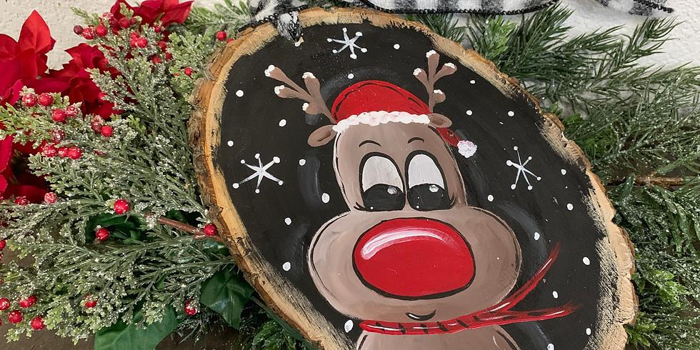 Reindeer wood round
