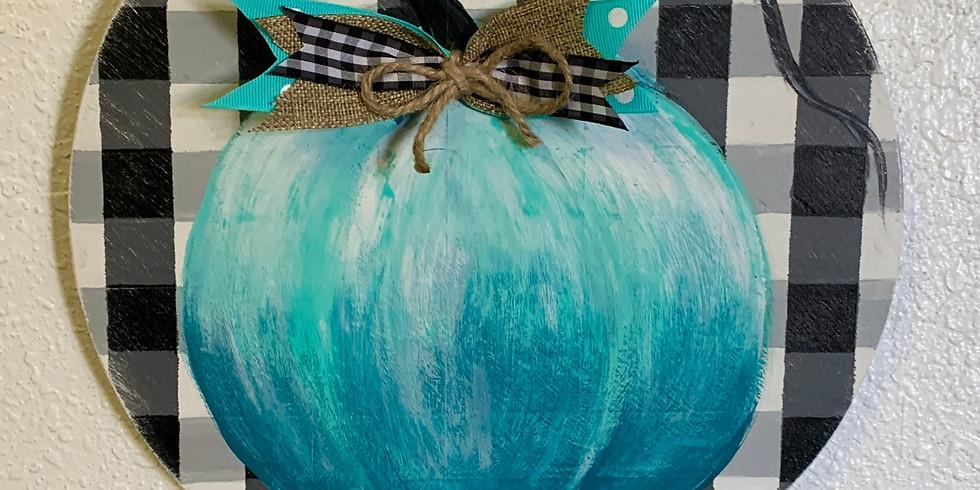 Blue Pumpkin Round