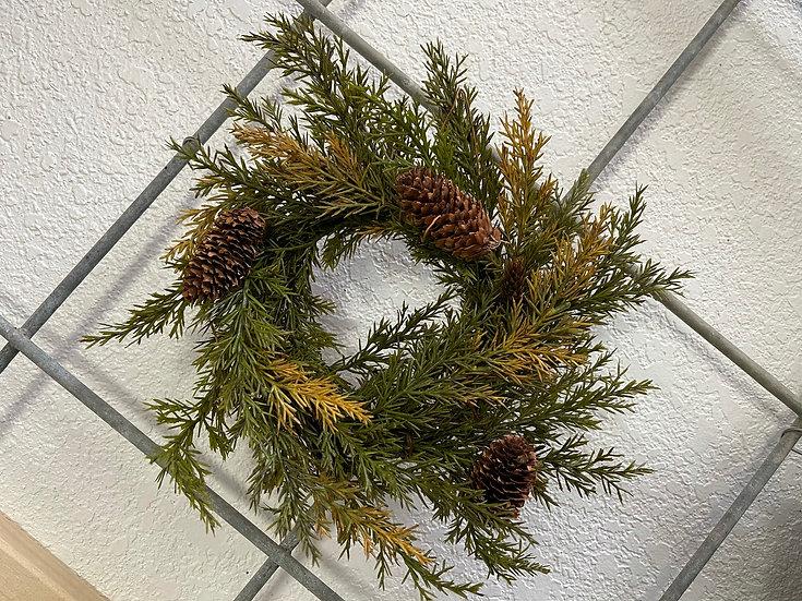 Alpine Cedar Pinecone Wreath/ Candle Ring