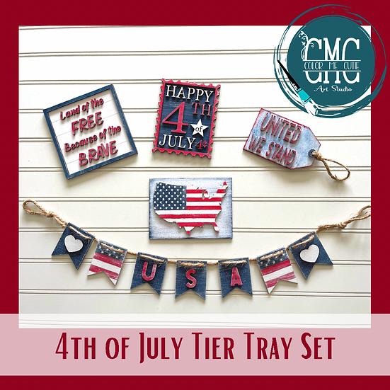 Patriotic Tier Tray Set