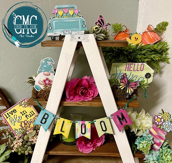 Spring Tier Tray Set / Mini sign set