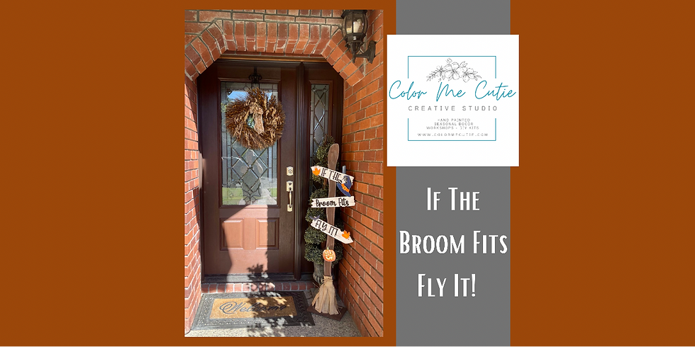 Witches Broom Porch Sign