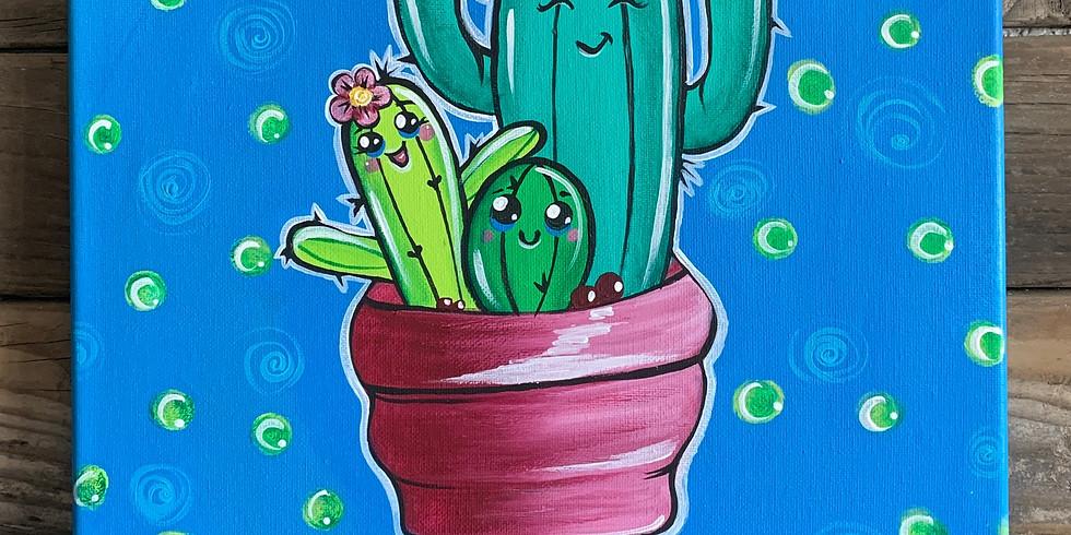 Free Hugs Cacti Painting Class
