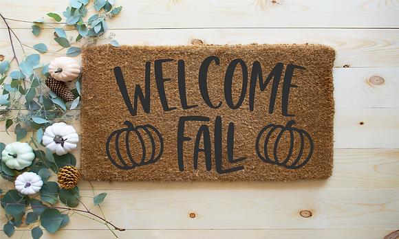 Welcome Fall---Fall Door Mat