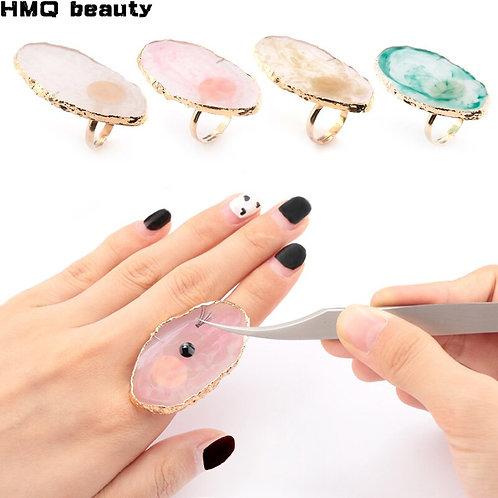 Eyelash Extension Glue Ring Acrylic Crystal
