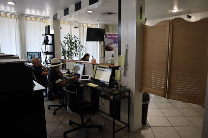 Front Desk area with iLash Receptionists that clients can contact.