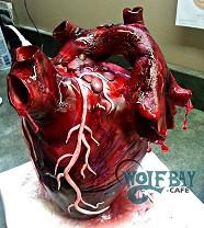 Realistic heart cake