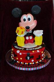 Edible sculpted Mickey