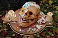 Dia de Muerta skull cake