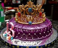 Princess pillow cake with sugar tiara