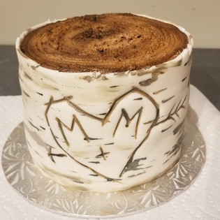 6 inch Birch bark Wedding cutting cake