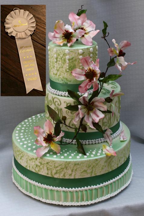 3 Tier Magnolia Wedding