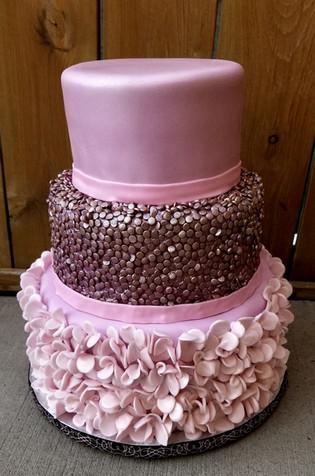 3 Stacked Wedding Cake