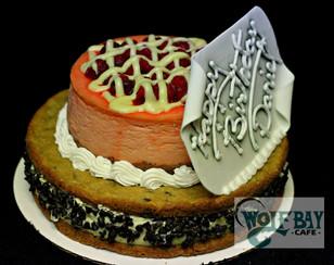 Cheesecake birthday cake
