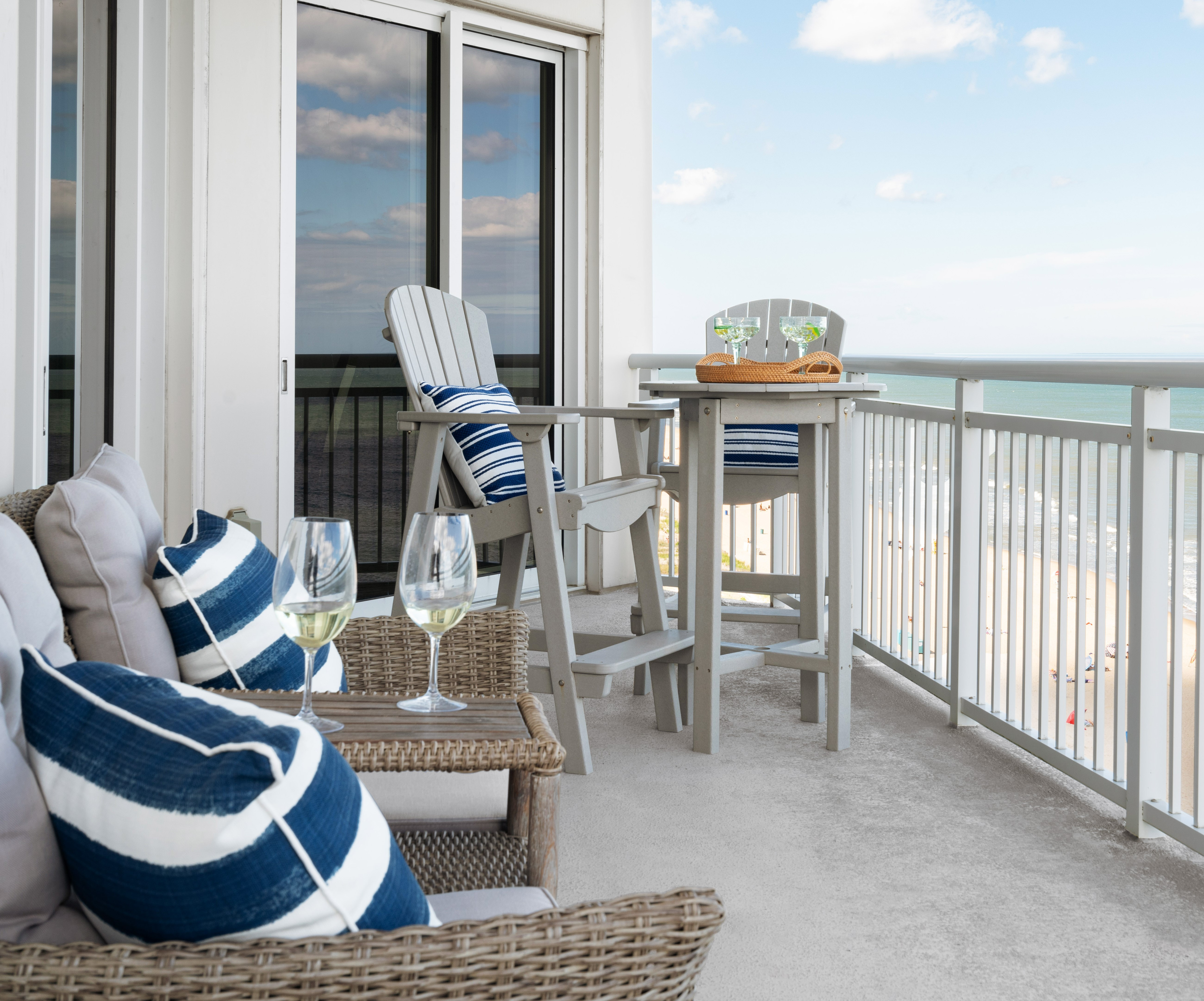 beach balcony seating
