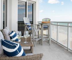 beach balcony seating