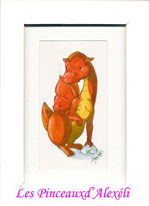 Plukaposer série dragon rouge