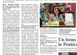 Un Article dans le Ptit Berrichon du Val de Loire et avancé du tome 2