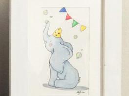 Plukaposer série éléphant