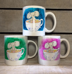 mugs choco color
