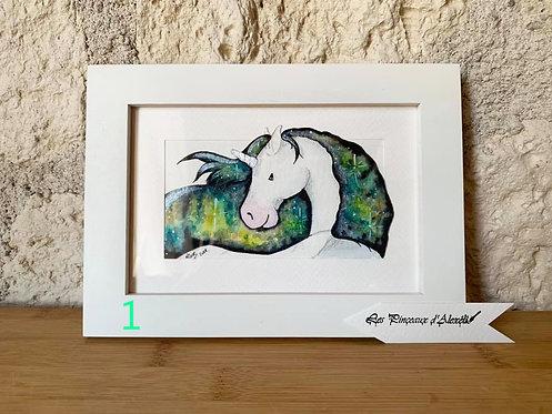 Plukaposer : série licorne crinière verte