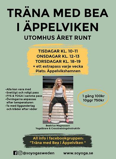Träna med Bea i Äppelviken grön copy