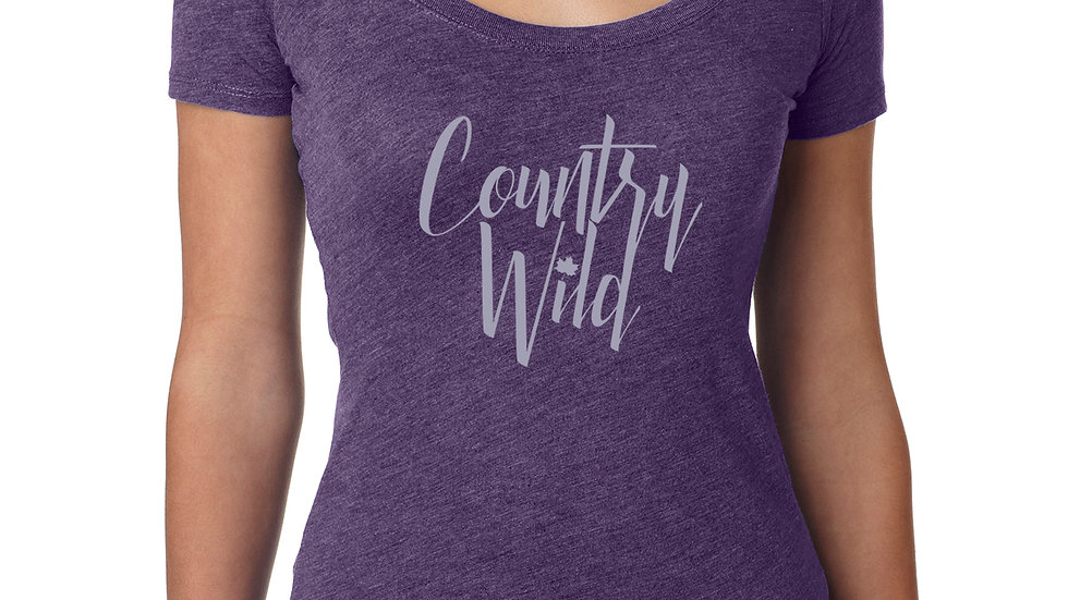 Country Wild Ladies-T: Purple Rush