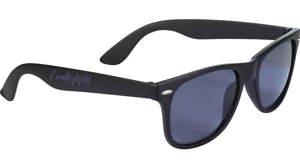 Classic Country Wild Wayfarer Sunglasses: Black